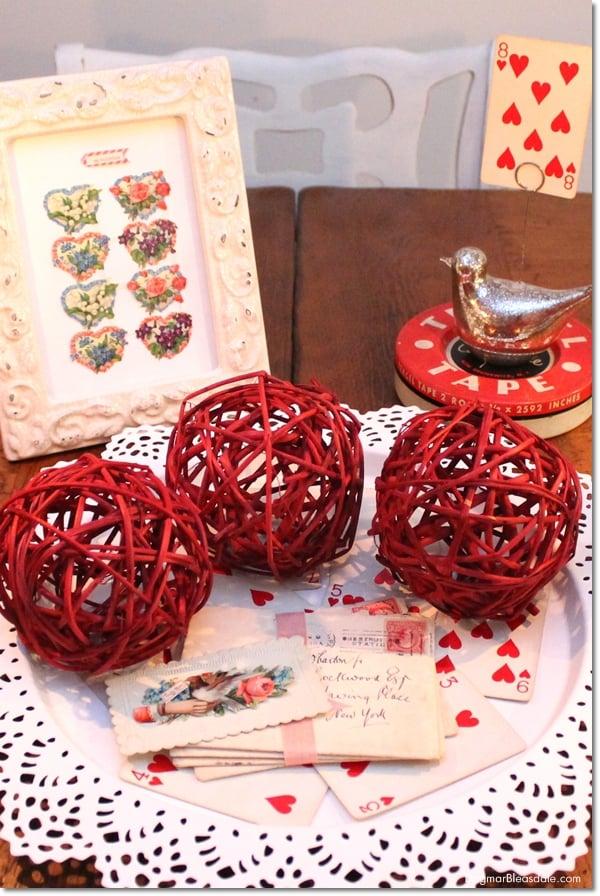 thrifty Valentine's Day decor