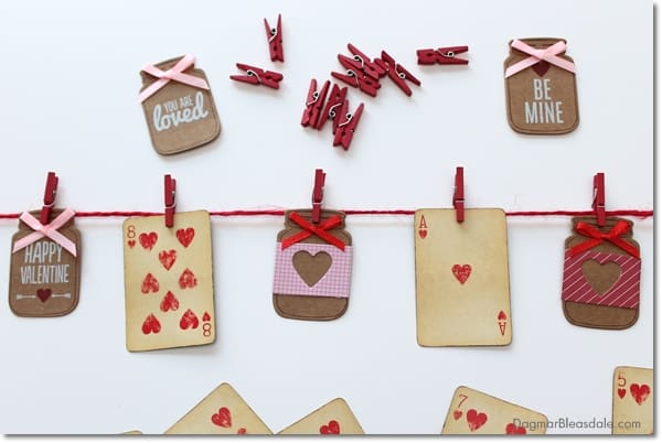 DIY Valentine's Day Banner With Vintage Playing Cards
