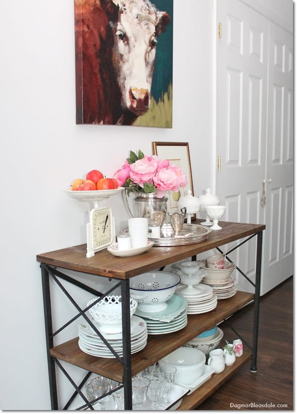 $60 rustic farmhouse console table, DagmarBleasdale.com