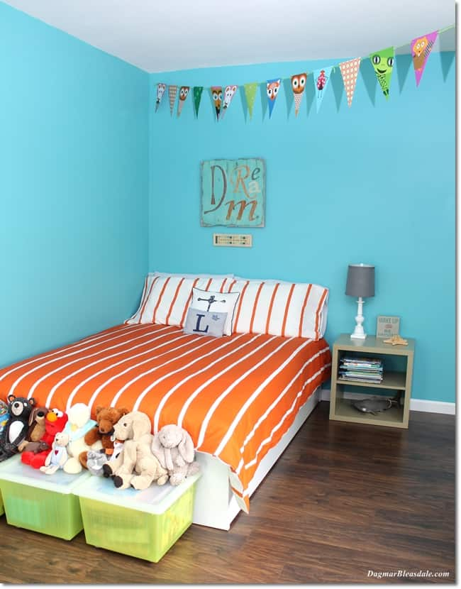 IKEA Bedroom Makeover, boy room, DagmarBleasdale.com