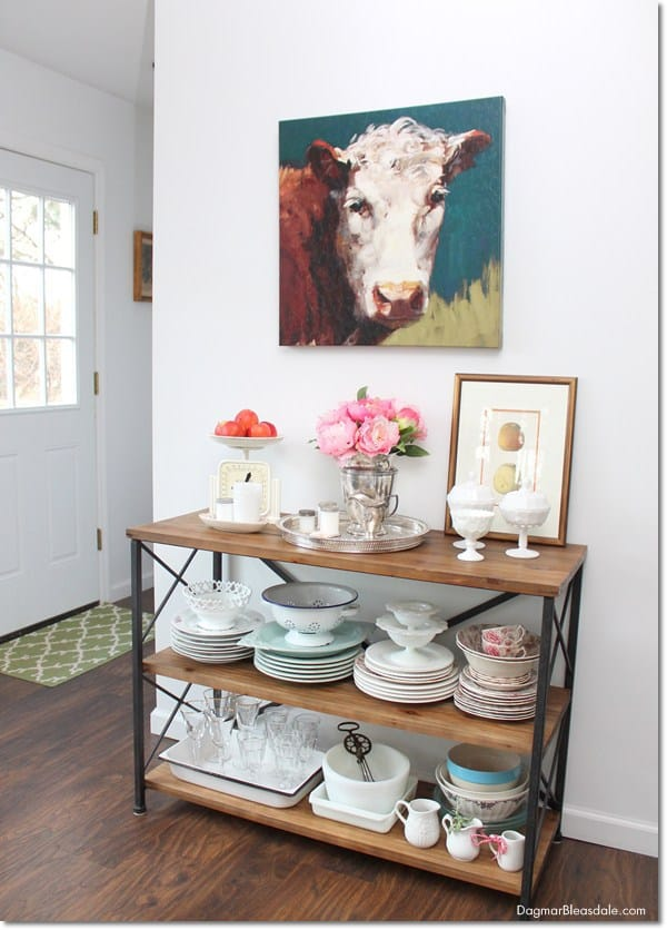 cow painting in kitchen