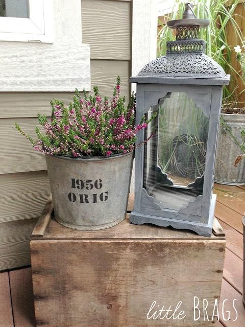 vintage bucket gift