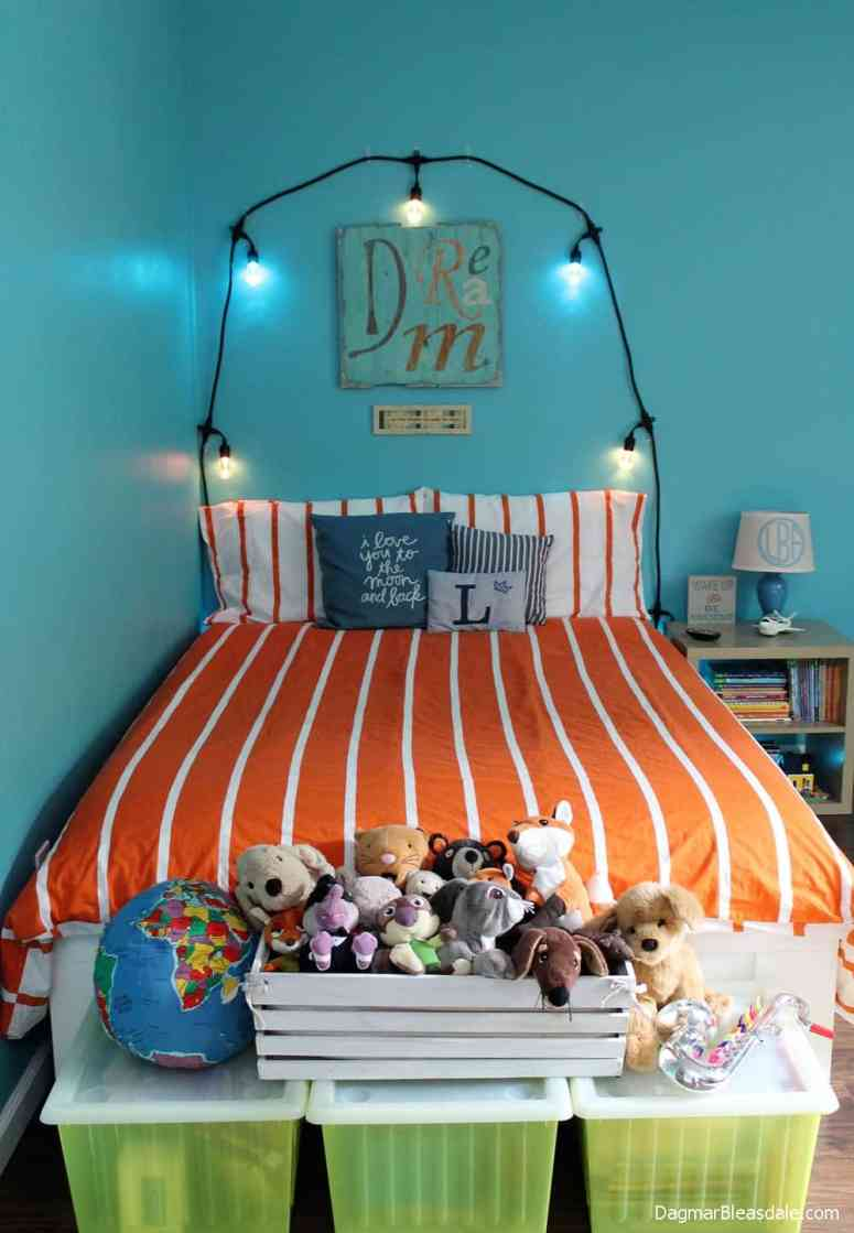faux headboard with lights, Color Changing Café Lights