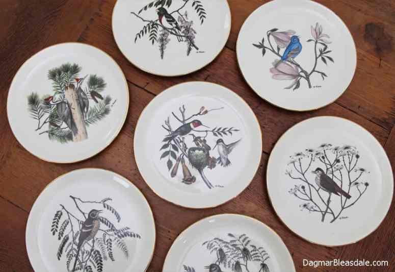 Delano Studios collectible bird plates designed from an original watercolor by Dennis Puleston.