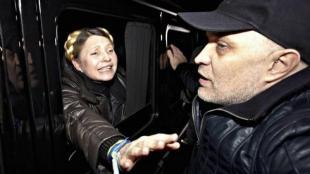 Yulia Timoshenko subito dopo la scarcerazion