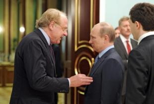 Paolo Scaroni and Vladimir Putin April jpeg