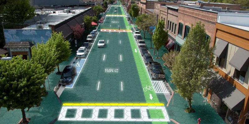 Simulazione strade solari