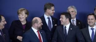 renzi parlamento europeo schulz merkel