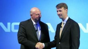 Steve Ballmer di Microsoft e Risto Siilasmaa, presidente CdA di Nokia