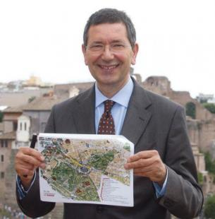 IGNAZIO MARINO CON LA MAPPA DELLA NUOVA MOBILITA SUI FORI IMPERIALI