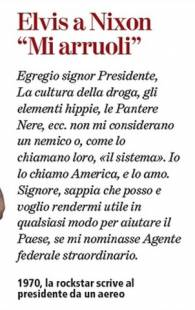 lettera di elvis preasley a richard nixon