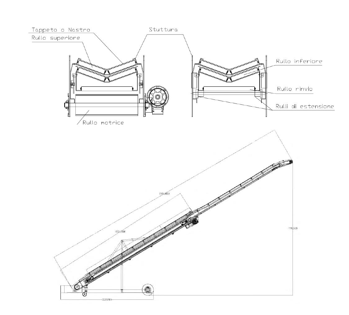 hight resolution of wheeled conveyor belt