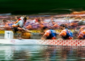 Dragon Boaters - photo impressionistic image