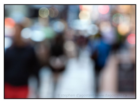 Photo impressionistic take on busy Mercer St. Soho New York. © Stephen D'Agostino