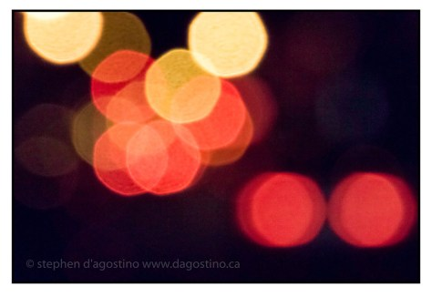 Just Bokeh: a soft focus approach to West Broadway at night.