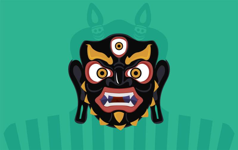 Grafica maschera Herukas