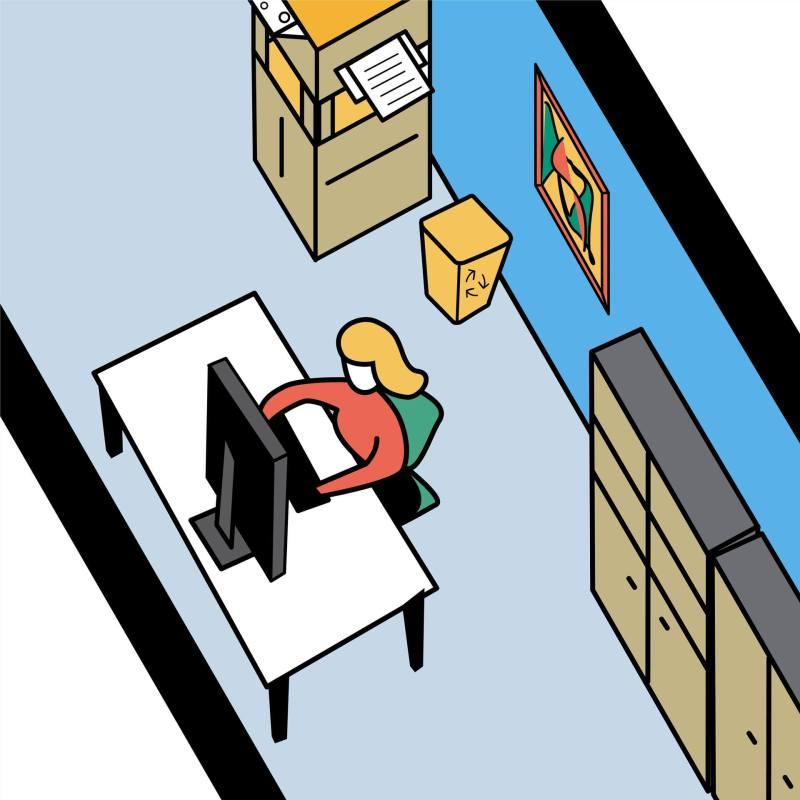 Dettaglio illustrazione trentennale Giemme