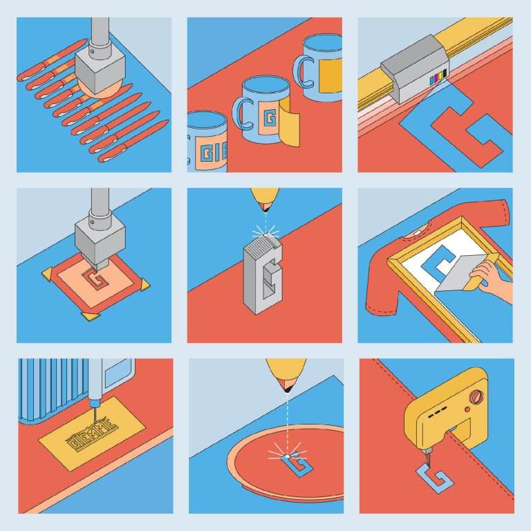 Icone lavorazioni e prodotti Giemme srl