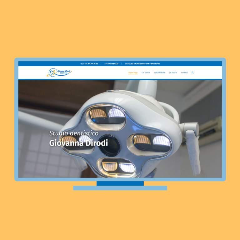 Sito Studio Dentistico Dirodi su PC