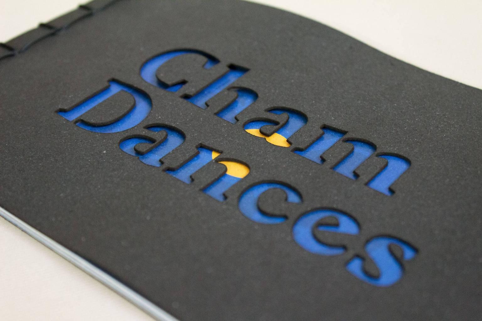 Dettaglio copertina libro Cham Dances