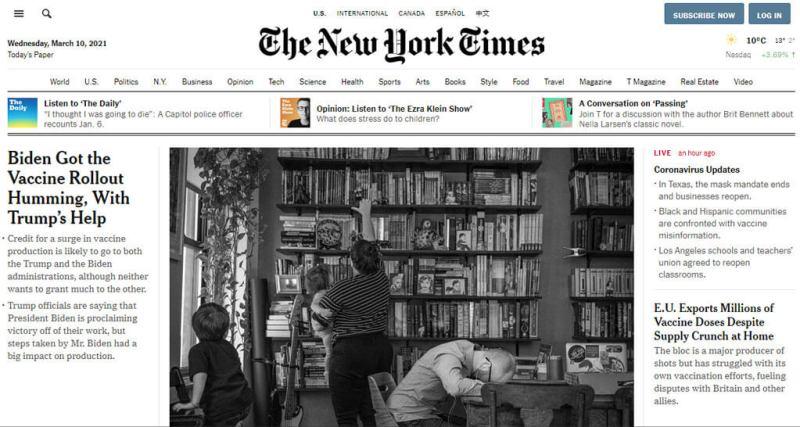Sito web New York Times