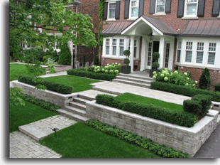 formal front yard landscaping