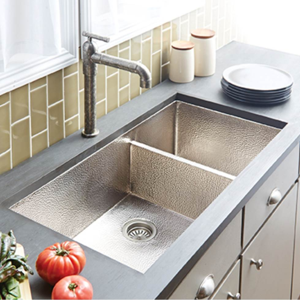 copper kitchen sinks best place to buy island native trails cpk577 at castle rock bath decorative cocina duet pro sink in brushed nickel