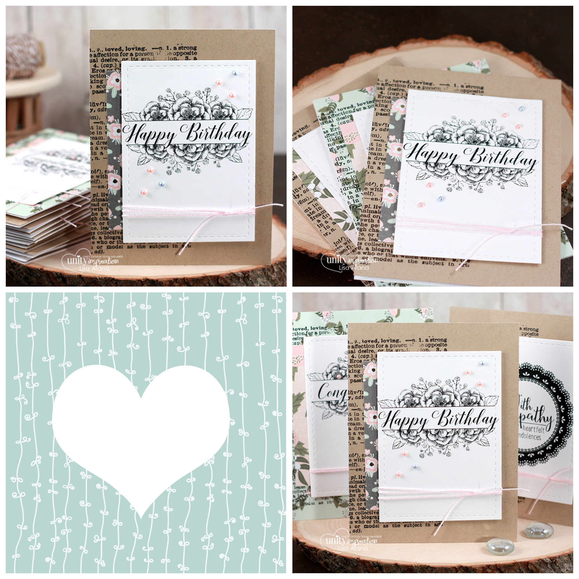 Sharing a set of handmade cards for all occasions using Special Wishes by Unity Stamp Company. #cardmaking #cardmaker #cards #stamping #dahlhousedesigns #unitystampco #handmadecards #diecutting #diy #stationary