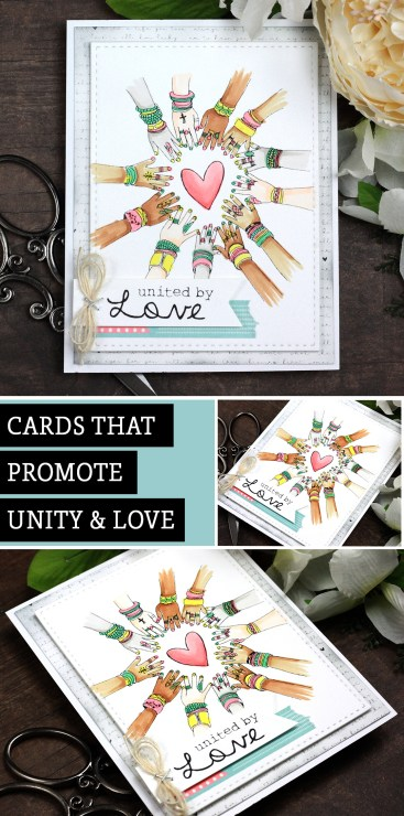 Sharing a lovely card idea for Unity and Love. The images are from the United by Love Unity Stamp Company stamp set. More inspiration on dahlhouse-designs.com. #cardmakingideas #cardmaker #cardmakingideas #cardinspiration #simplecards #rubberstamps #dahlhousedesigns #unitystampco #handmadecards #carddesign #craftersgonnacraft #papercrafting
