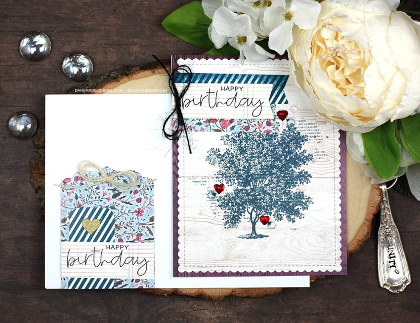 Sharing a simple idea for cute tags to decorate your card envelope with a tutorial & quick video. The images are from the Tree of Love Unity Stamp Company stamp set. More inspiration on dahlhouse-designs.com.
