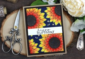 Fall Sunflower Birthday Card | Copic Coloring