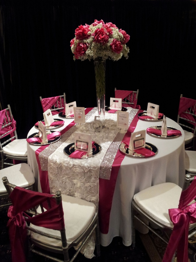 design chair covers to go cheap card table and chairs inspiration for hot pink wedding reception by dahlia floral