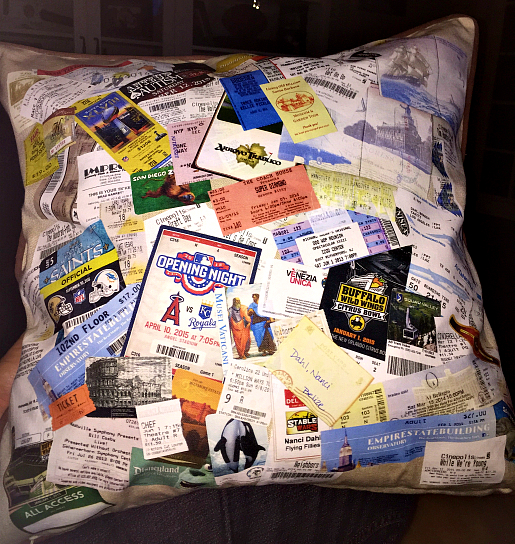 personalized ticket pillow dahlicious