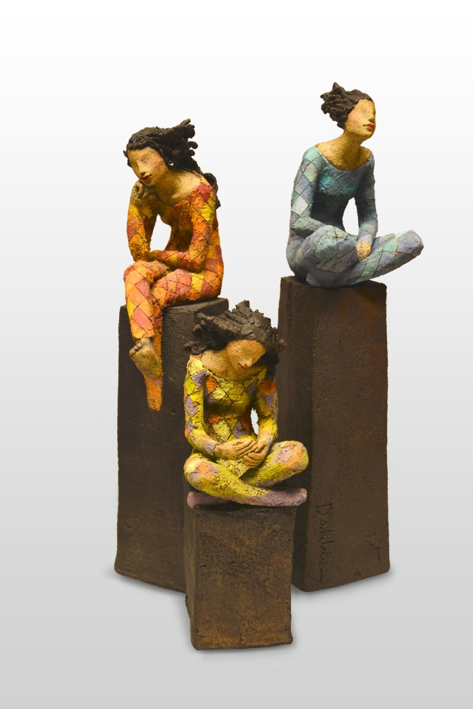 harlegueen, narr, keramikk, skulptur, Ingun Dahlin