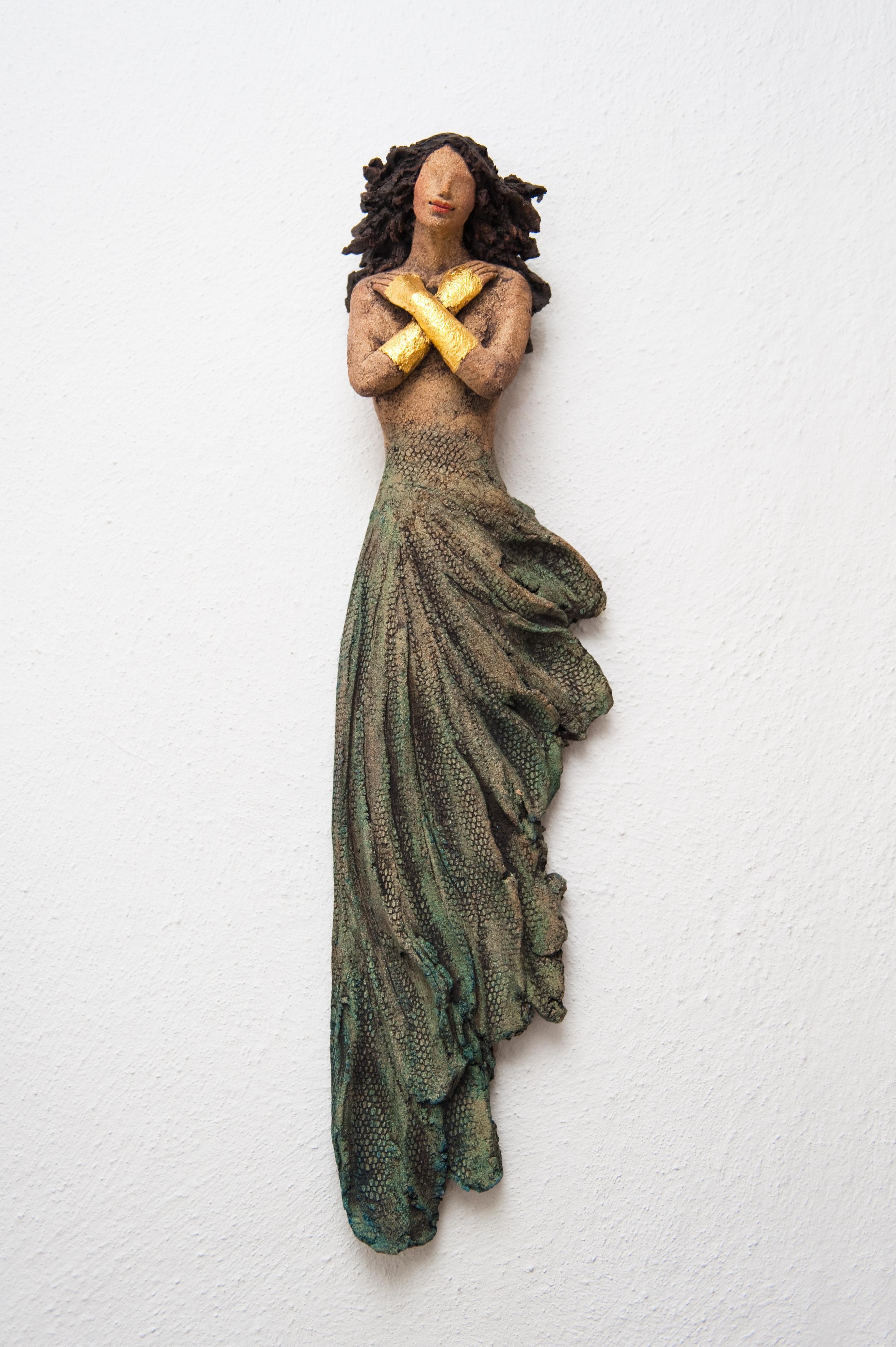 veggdame, x-dame, skulptur, keramikk, Ingun Dahlin