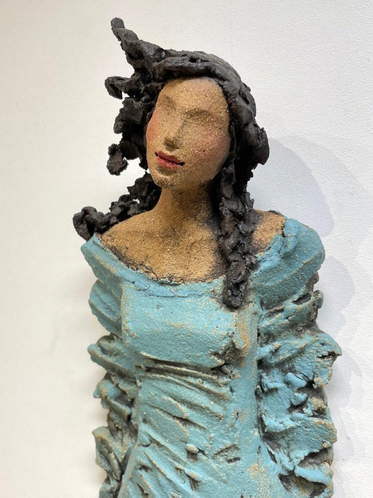 veggdame, Ingun Dahlin, keramikk
