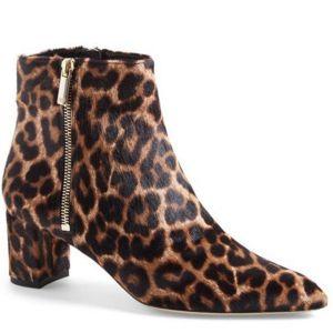 Diane von Furstenberg leopard bootie