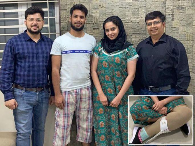 પ્રસૂતિ માટે જતી યુવતીના પગે અકસ્માત દરમિયાન ગંભીર ઇજા થઇ હતી - Divya Bhaskar