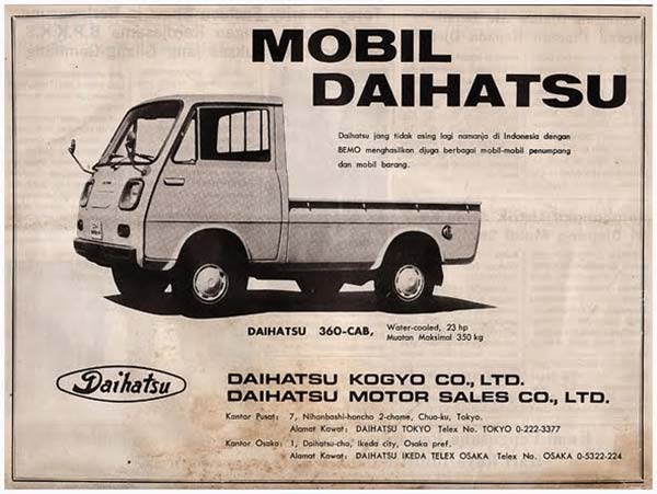 Iklan Minibus Daihatsu Hijet S37 1968
