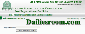Check Jamb Admission Status Checker and Current UTME Admission Status