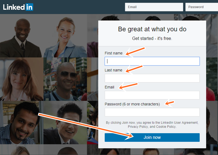Step by Step To LinkedIn Sign Up In English (LinkedIn Registration)
