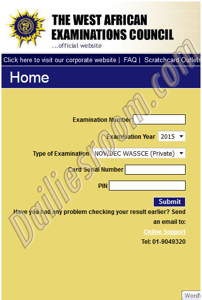 How to Check WAEC result without scratch card - WAEC Result Checking Portal