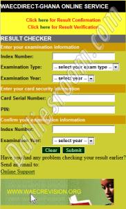BECE Result Portal For Online Result Checker - www.ghana.waecdirect.org