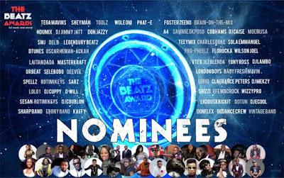 The Beatz Awards Nominees list