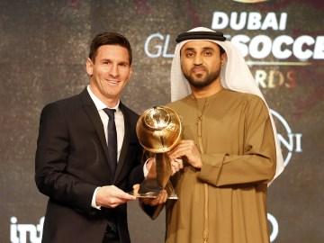 Messi wins 2015 Globe Soccer Awards - Beat Out CR7 & Buffon