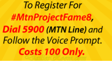 MTN Project Fame 8 Audio Audition Registration Process