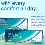 Focus Dailies All Day Comfort With contact lenses