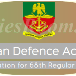 NDA 68th Regular Course Admission Application for 2016/2017 – Apply Now