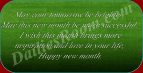 Amazing Happy New Month Messages For Family, Friends and Loved Once