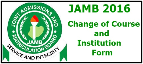JAMB Change of Course and Institution Form - banner